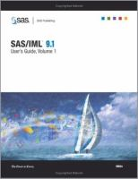 SAS/IML(R) 9. 1 User's Guide [electronic resource]