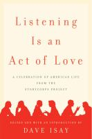Book cover for Listening Is and Act of Love