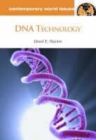 DNA technology : a reference handbook