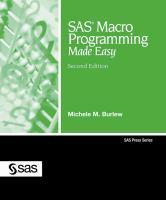 SAS macro programming made easy [electronic resource]