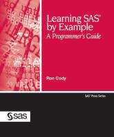 Learning SAS by example [electronic resource] : a programmer's guide