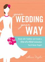 Book cover for Your Wedding, Your Way by Sharon Naylor