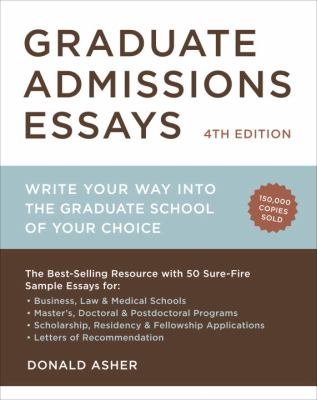 cover of the book Graduate Admissions Essays
