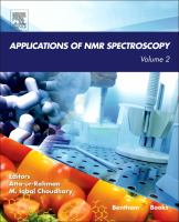 Applications of NMR spectroscopy. Volume 2 [electronic resource]
