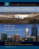 Mining and communities [electronic resource] : understanding the context of engineering practice