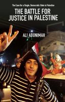 book cover image - the battle for justice in Palestine