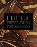 Historic preservation for designers.