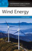 Wind energy : a reference handbook