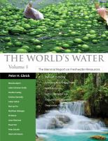 The world's water. Volume 8 [electronic resource] : the biennial report on freshwater resources