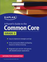 A parent's guide to the Common Core. Grade 3.
