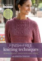 Finish-free knitting techniques