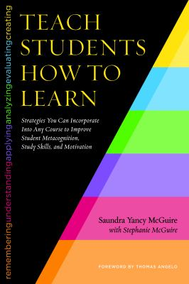 Book cover for Teach students how to learn : strategies you can incorporate into any course to improve student metacognition, study skills, and motivation / Saundra Yancy McGuire with Stephanie McGuire &#59; foreword by Thomas A. Angelo