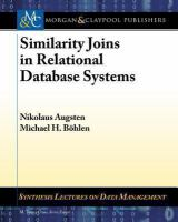 Similarity joins in relational database systems [electronic resource]