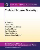 Mobile platform security [electronic resource]
