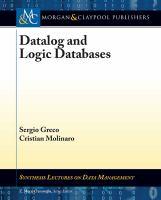 Datalog and logic databases [electronic resource]