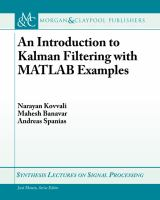 Introduction to Kalman Filtering with MATLAB examples [electronic resource]