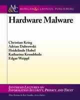 Hardware malware [electronic resource]