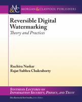 Reversible digital watermarking [electronic resource] : theory and practices