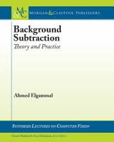 Background subtraction [electronic resource] : theory and practice
