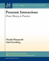 Proxemic interactions [electronic resource] : from theory to practice