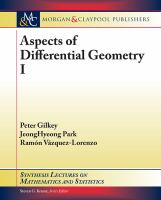 Aspects of differential geometry I [electronic resource]