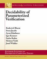 Decidability of parameterized verification [electronic resource]