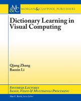 Dictionary learning in visual computing [electronic resource]