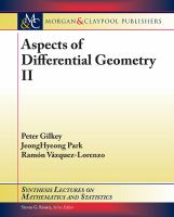 Aspects of differential geometry II [electronic resource]