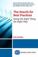 The search for best practices [electronic resource] : doing the right thing the right way
