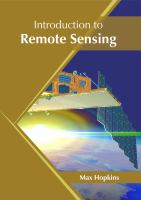 Introduction to remote sensing /