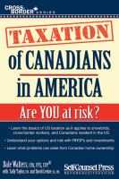 Taxation of Canadians in America cover image