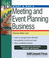 book cover image: Start and Run a Meeting and Event Planning Business