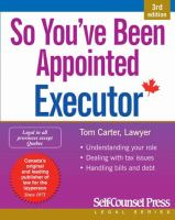 Title: So you've been appointed executor Author:Carter, Tom