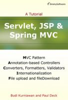 Servlet, JSP and Spring MVC [electronic resource] : a tutorial