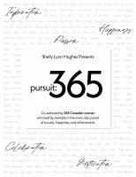 Title: Pursuit 365 : 365 inspiring stories, in 365 words, by 365 Canadian women Author:
