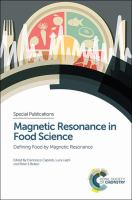 Magnetic resonance in food science [electronic resource] : defining food by magnetic resonance