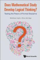 Does mathematical study develop logical thinking? : testing the theory of formal discipline /