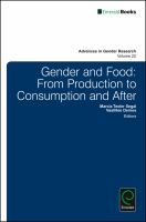 Gender and food : from production to consumption and after /