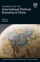 Handbook on the international political economy of china /
