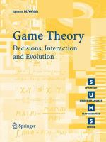 Game theory [electronic resource] : decision, interaction, and evolution