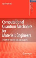 Computational quantum mechanics for materials engineers [electronic resource] : the EMTO method and applications