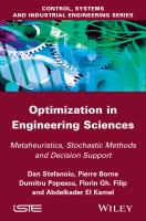 Optimization in engineering sciences [electronic resource] : metaheuristics, stochastic methods and decision support