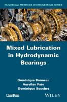 Mixed lubrication in hydrodynamic bearings [electronic resource]