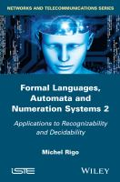 Formal languages, automata and numeration systems 2 [electronic resource]