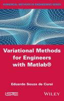 Variational methods for engineers with Matlab [electronic resource]