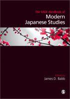 The Sage handbook of modern Japanese studies [electronic resource]