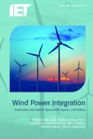 Wind power integration [electronic resource] : connection and system operational aspects