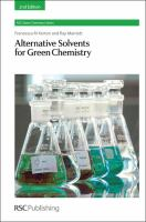 Alternative Solvents for Green Chemistry 2nd Edition [electronic resource]