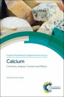 Calcium [electronic resource] : chemistry, analysis, function and effects