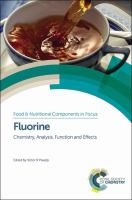 Fluorine [electronic resource] : chemistry, analysis, function and effects